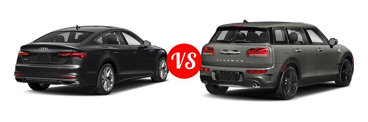 2021 Audi A5 Hatchback Premium / Premium Plus / Prestige / S line Premium Plus / S line Prestige vs. 2021 MINI Clubman John Cooper Works Hatchback John Cooper Works - Rear Right Comparison