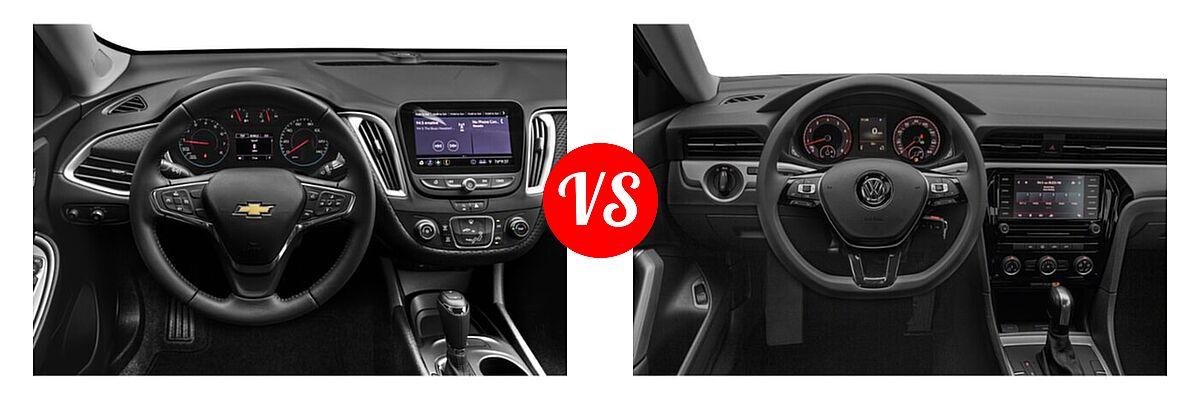 2021 Chevrolet Malibu Sedan RS vs. 2021 Volkswagen Passat Sedan 2.0T S / 2.0T SE - Dashboard Comparison