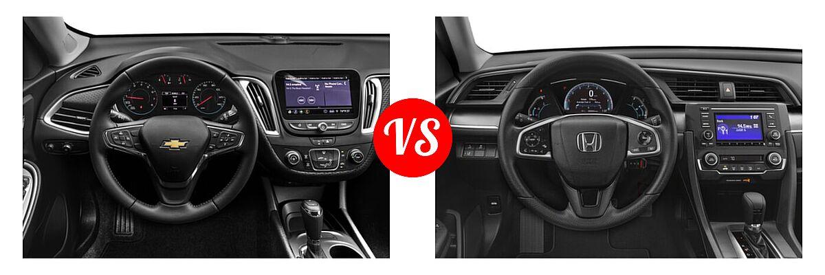 2021 Chevrolet Malibu Sedan RS vs. 2021 Honda Civic Sedan LX - Dashboard Comparison