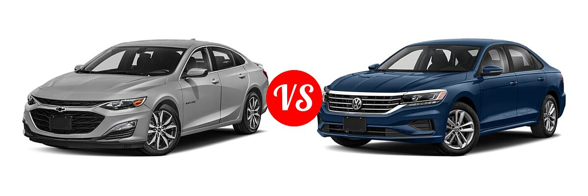 2021 Chevrolet Malibu Sedan RS vs. 2021 Volkswagen Passat Sedan 2.0T R-Line - Front Left Comparison