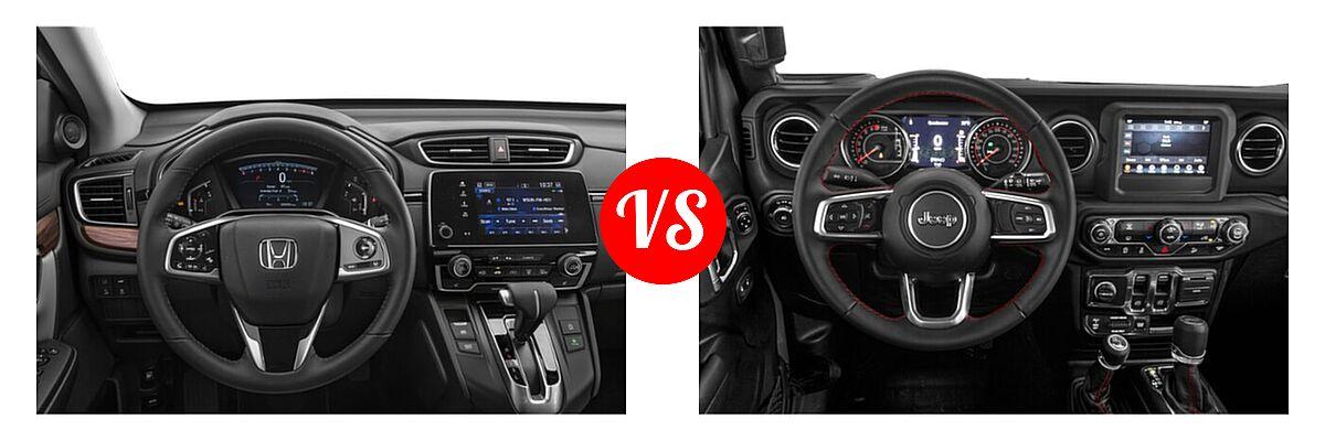 2021 Honda CR-V SUV EX-L vs. 2021 Jeep Wrangler SUV Rubicon - Dashboard Comparison