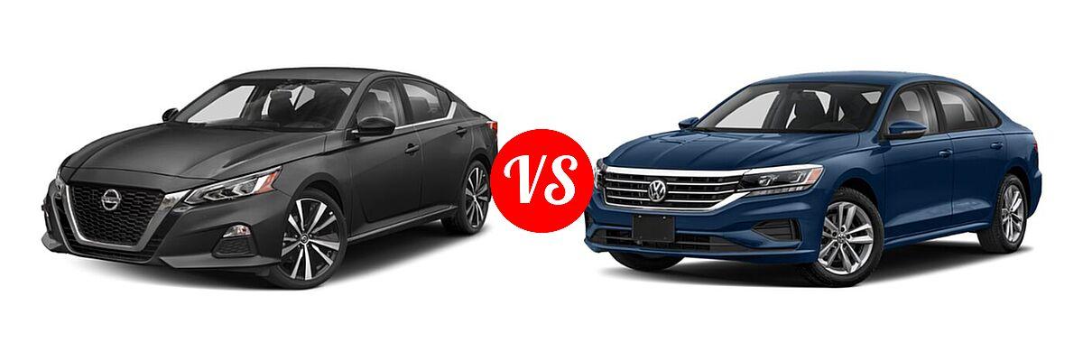 2021 Nissan Altima Sedan 2.0 SR / 2.5 SR vs. 2021 Volkswagen Passat Sedan 2.0T S / 2.0T SE - Front Left Comparison