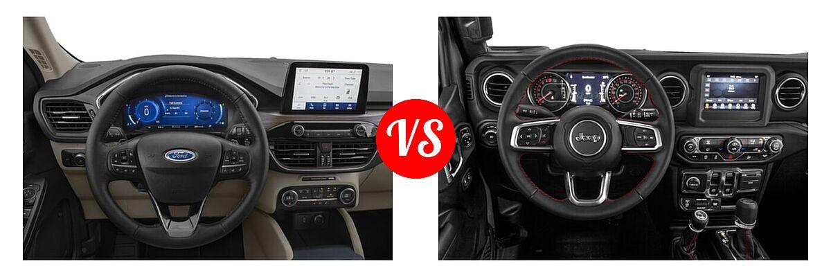 2021 Ford Escape SUV Titanium vs. 2021 Jeep Wrangler SUV Rubicon - Dashboard Comparison