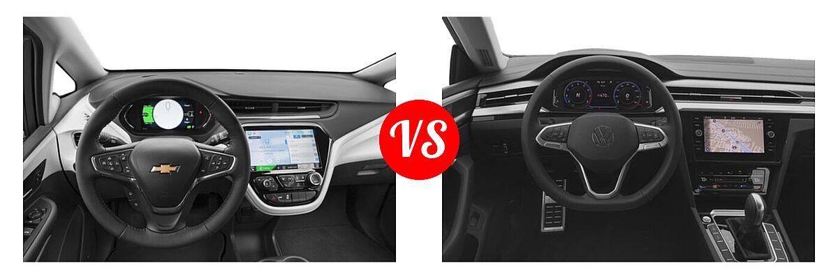 2021 Chevrolet Bolt EV Hatchback Electric Premier vs. 2021 Volkswagen Arteon Hatchback SE - Dashboard Comparison