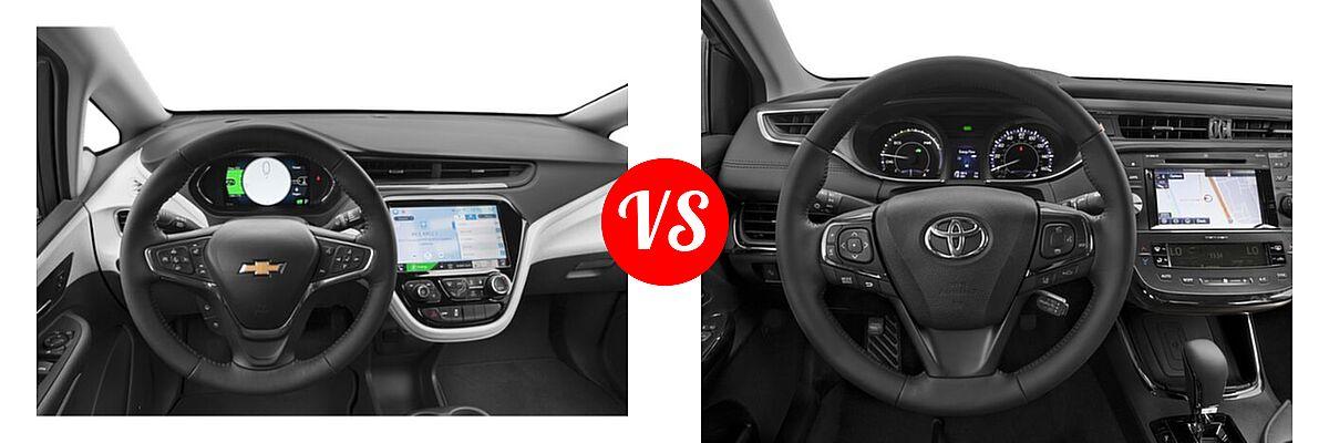 2021 Chevrolet Bolt EV Hatchback Electric Premier vs. 2018 Toyota Avalon Hybrid Sedan Hybrid Limited - Dashboard Comparison