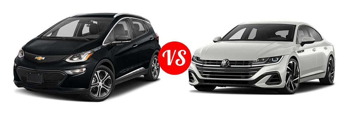 2021 Chevrolet Bolt EV Hatchback Electric Premier vs. 2021 Volkswagen Arteon Hatchback SEL Premium R-Line / SEL R-Line - Front Left Comparison