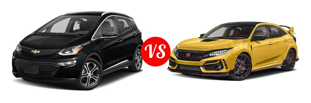 2021 Chevrolet Bolt EV Hatchback Electric Premier vs. 2021 Honda Civic Type R Hatchback Limited Edition - Front Left Comparison