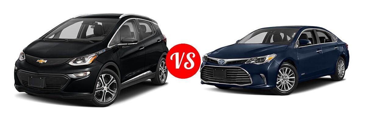2021 Chevrolet Bolt EV Hatchback Electric Premier vs. 2018 Toyota Avalon Hybrid Sedan Hybrid Limited - Front Left Comparison