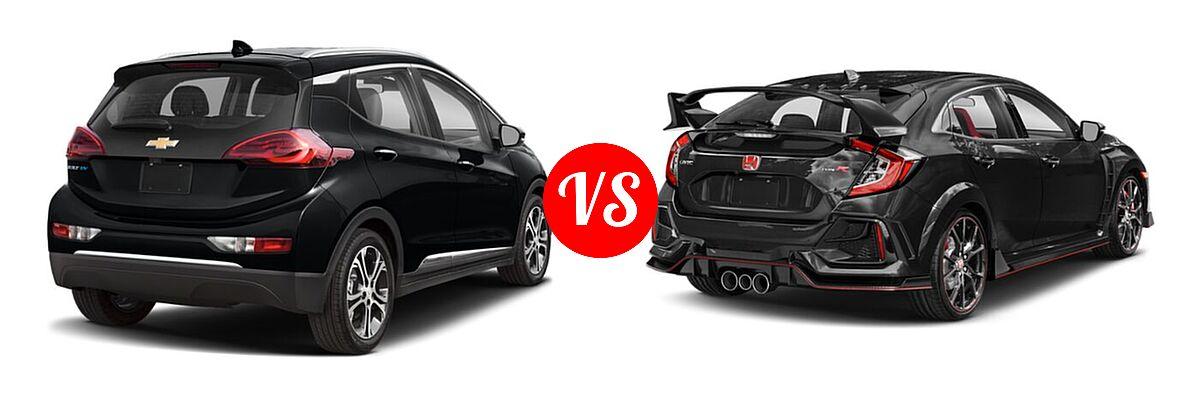 2021 Chevrolet Bolt EV Hatchback Electric Premier vs. 2021 Honda Civic Type R Hatchback Touring - Rear Right Comparison