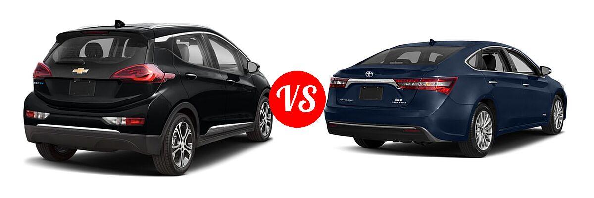 2021 Chevrolet Bolt EV Hatchback Electric Premier vs. 2018 Toyota Avalon Hybrid Sedan Hybrid Limited - Rear Right Comparison