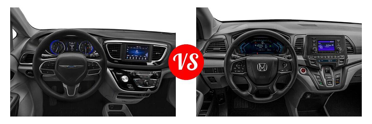 2021 Chrysler Voyager Minivan L / LX vs. 2021 Honda Odyssey Minivan LX - Dashboard Comparison