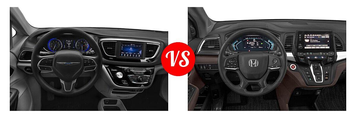 2021 Chrysler Voyager Minivan L / LX vs. 2021 Honda Odyssey Minivan EX - Dashboard Comparison