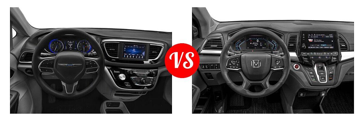 2021 Chrysler Voyager Minivan L / LX vs. 2021 Honda Odyssey Minivan EX-L - Dashboard Comparison