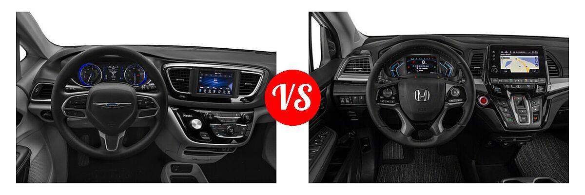 2021 Chrysler Voyager Minivan L / LX vs. 2021 Honda Odyssey Minivan Touring - Dashboard Comparison
