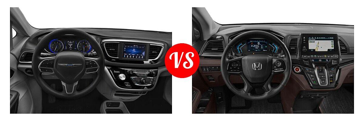 2021 Chrysler Voyager Minivan L / LX vs. 2021 Honda Odyssey Minivan Elite - Dashboard Comparison