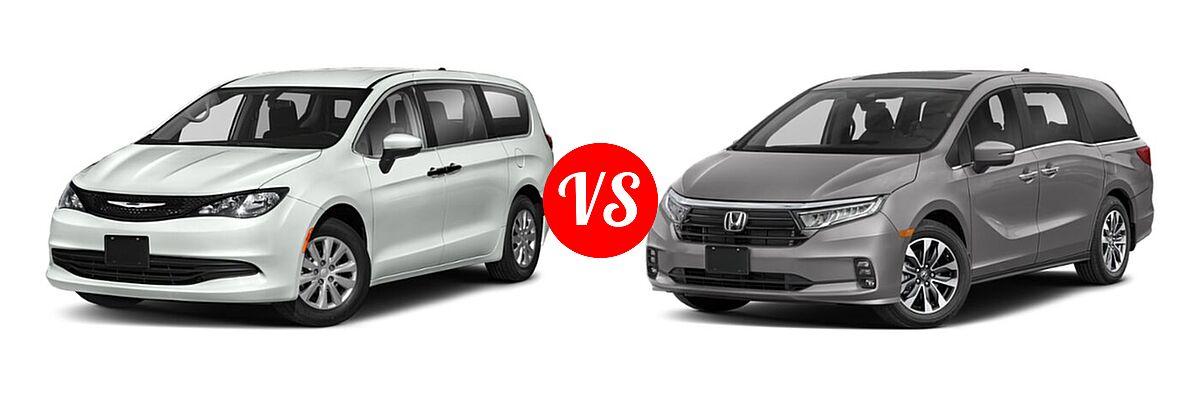 2021 Chrysler Voyager Minivan L / LX vs. 2021 Honda Odyssey Minivan EX-L - Front Left Comparison
