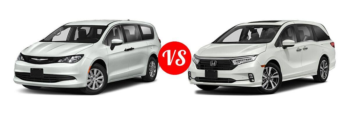 2021 Chrysler Voyager Minivan L / LX vs. 2021 Honda Odyssey Minivan Touring - Front Left Comparison