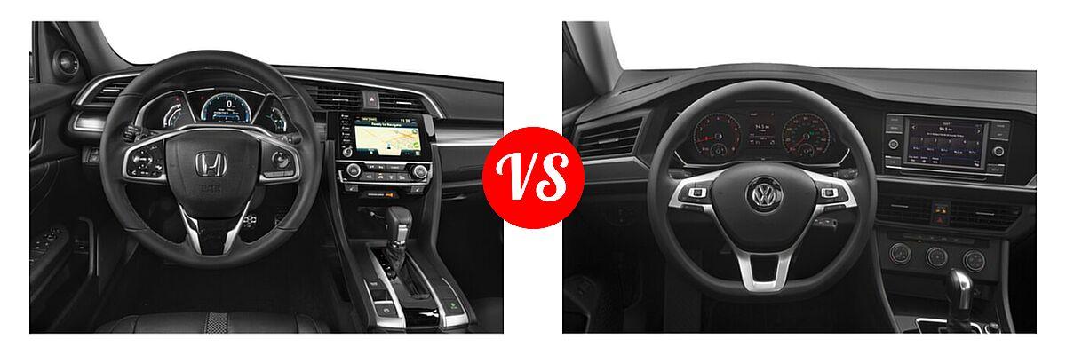 2021 Honda Civic Sedan Touring vs. 2021 Volkswagen Jetta Sedan S / SE / SEL / SEL Premium - Dashboard Comparison