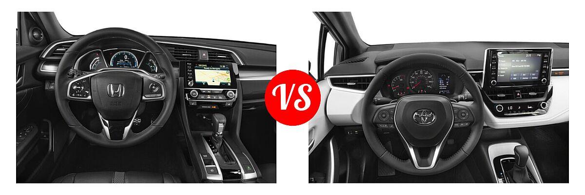 2021 Honda Civic Sedan Touring vs. 2021 Toyota Corolla Sedan SE / XSE - Dashboard Comparison