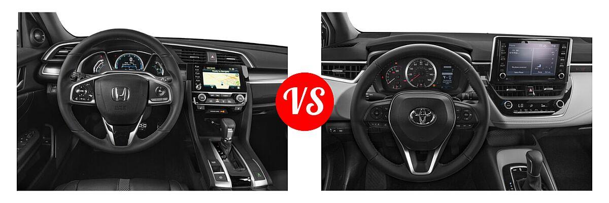 2021 Honda Civic Sedan Touring vs. 2021 Toyota Corolla Sedan APEX SE - Dashboard Comparison