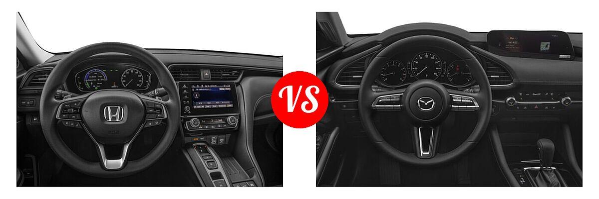 2021 Honda Insight Sedan Hybrid EX vs. 2021 Mazda 2 Sedan Preferred - Dashboard Comparison