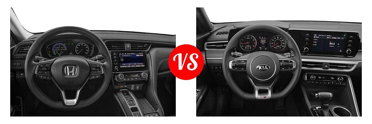 2021 Honda Insight Sedan Hybrid EX vs. 2021 Kia K5 Sedan GT-Line - Dashboard Comparison