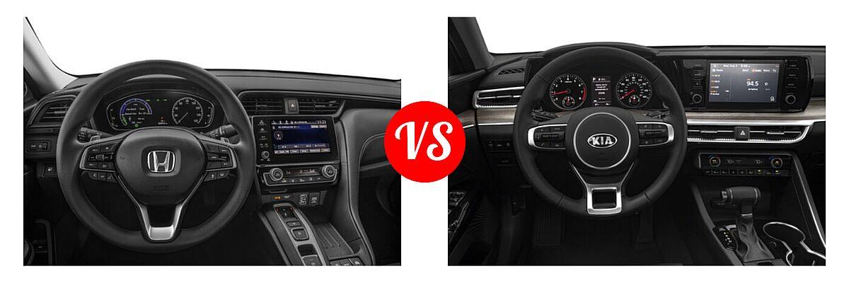 2021 Honda Insight Sedan Hybrid EX vs. 2021 Kia K5 Sedan EX - Dashboard Comparison