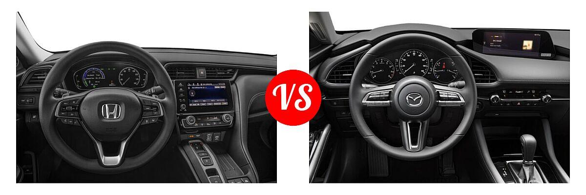 2021 Honda Insight Sedan Hybrid EX vs. 2021 Mazda 2 Sedan Premium - Dashboard Comparison