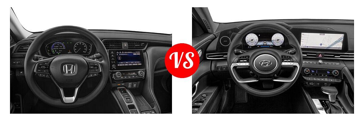 2021 Honda Insight Sedan Hybrid EX vs. 2021 Hyundai Elantra Sedan N Line - Dashboard Comparison