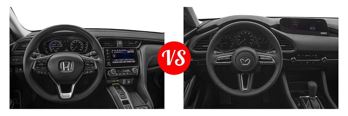 2021 Honda Insight Sedan Hybrid EX vs. 2021 Mazda 2 Sedan Select - Dashboard Comparison