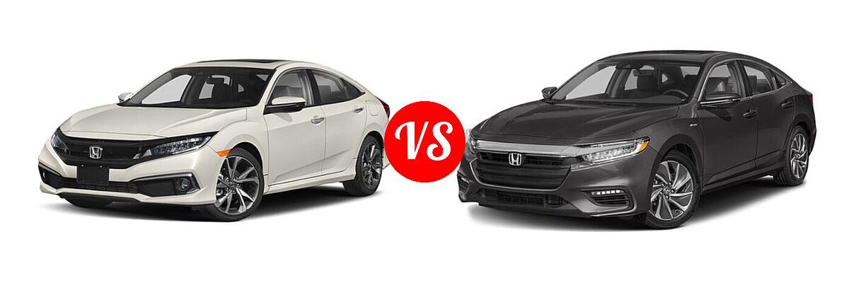 2021 Honda Civic Sedan Touring vs. 2021 Honda Insight Sedan Hybrid Touring - Front Left Comparison