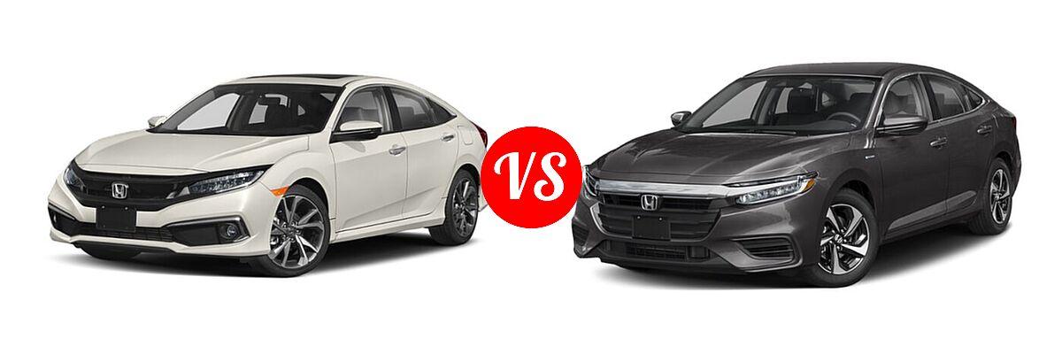 2021 Honda Civic Sedan Touring vs. 2021 Honda Insight Sedan Hybrid EX - Front Left Comparison