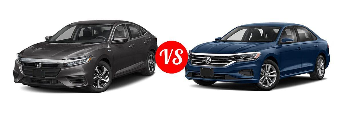 2021 Honda Insight Sedan Hybrid EX vs. 2021 Volkswagen Passat Sedan 2.0T R-Line - Front Left Comparison