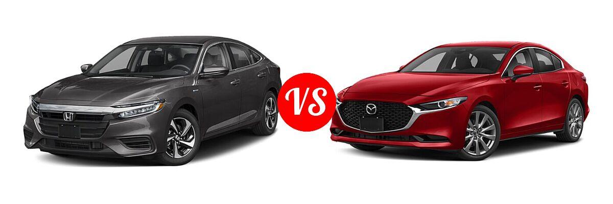 2021 Honda Insight Sedan Hybrid EX vs. 2021 Mazda 2 Sedan Preferred - Front Left Comparison