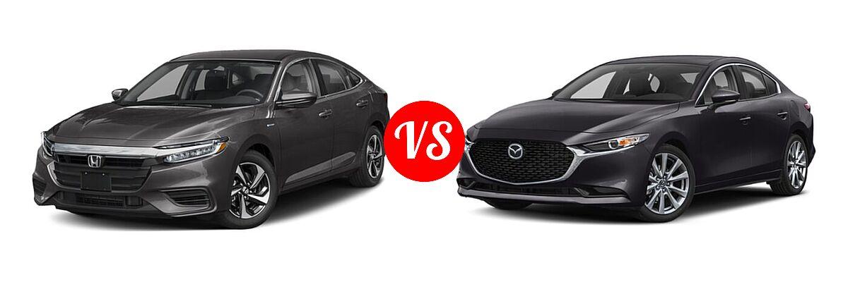 2021 Honda Insight Sedan Hybrid EX vs. 2021 Mazda 2 Sedan Select - Front Left Comparison