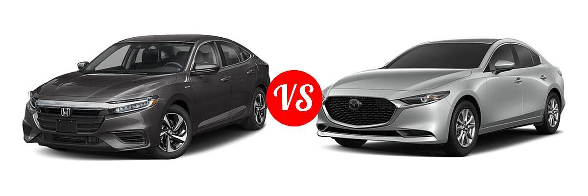 2021 Honda Insight Sedan Hybrid EX vs. 2021 Mazda 2 Sedan 2.0 - Front Left Comparison