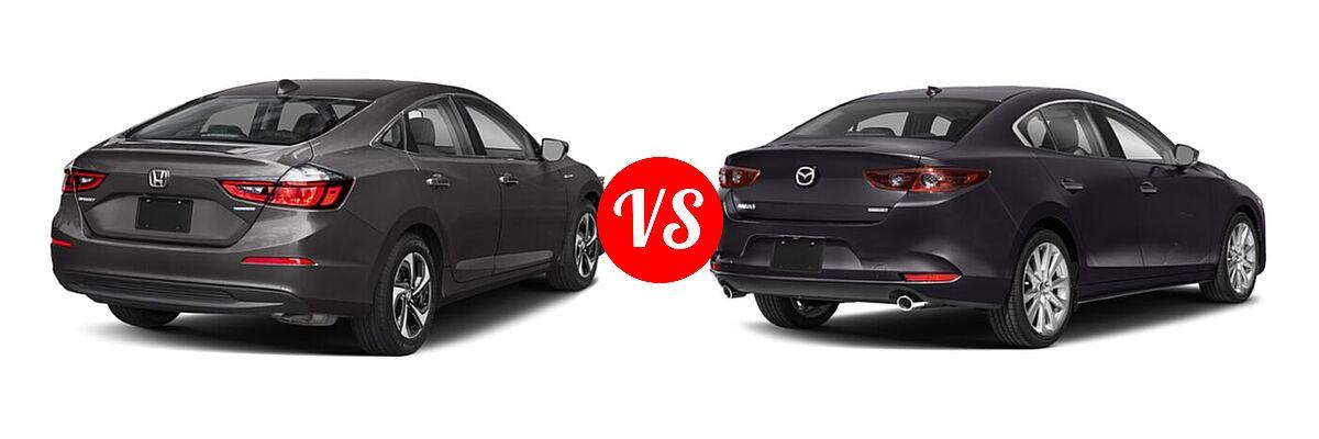 2021 Honda Insight Sedan Hybrid EX vs. 2021 Mazda 2 Sedan Preferred - Rear Right Comparison