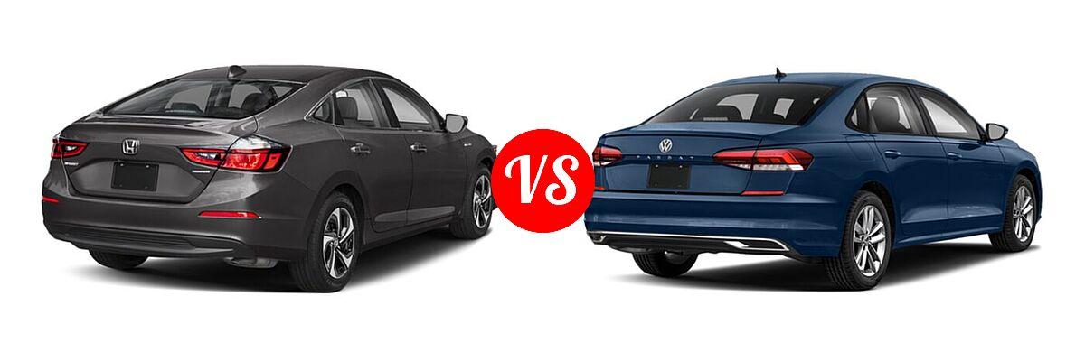 2021 Honda Insight Sedan Hybrid EX vs. 2021 Volkswagen Passat Sedan 2.0T R-Line - Rear Right Comparison