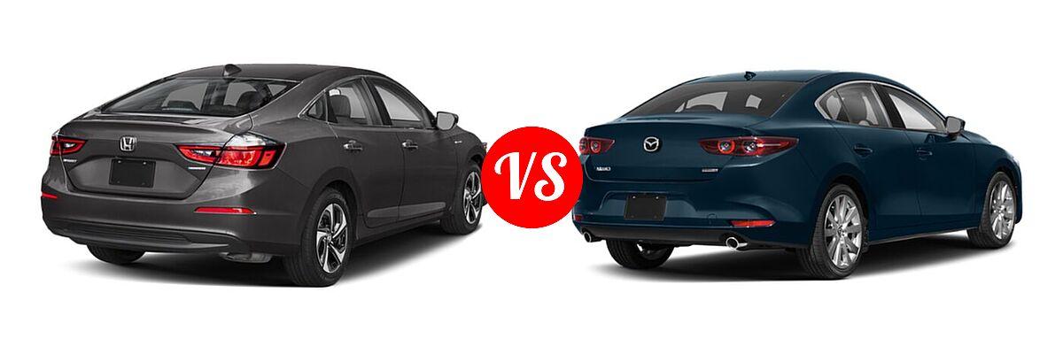 2021 Honda Insight Sedan Hybrid EX vs. 2021 Mazda 2 Sedan Premium - Rear Right Comparison