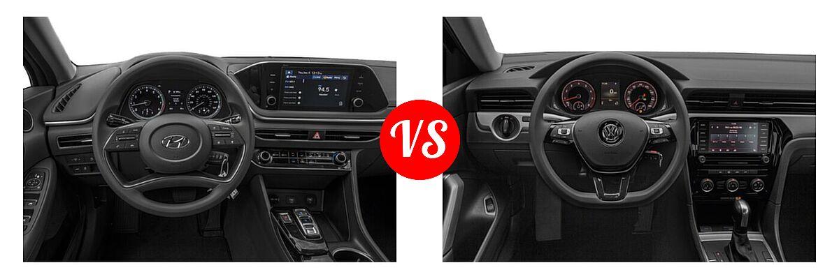 2021 Hyundai Sonata Sedan SE vs. 2021 Volkswagen Passat Sedan 2.0T R-Line - Dashboard Comparison