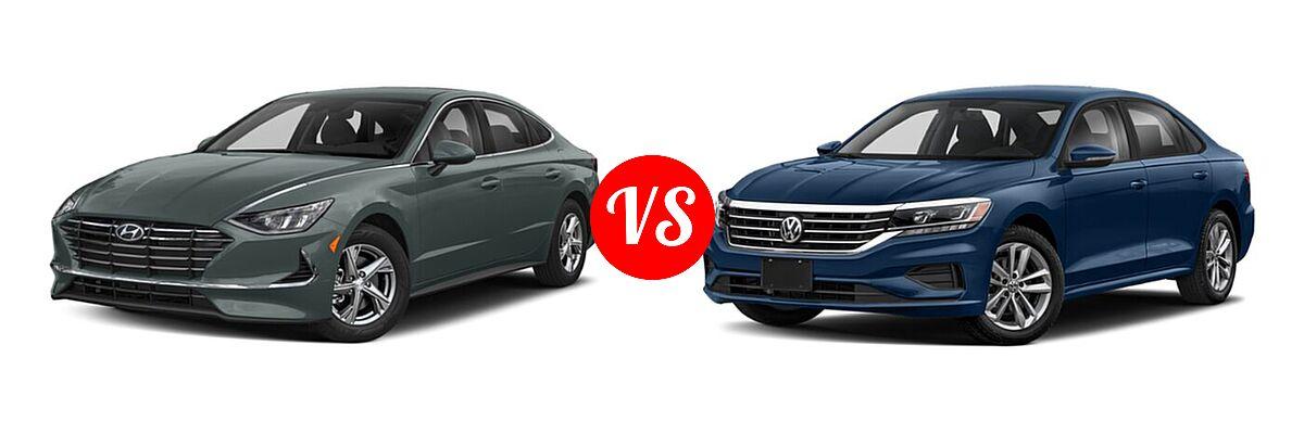 2021 Hyundai Sonata Sedan SE vs. 2021 Volkswagen Passat Sedan 2.0T R-Line - Front Left Comparison