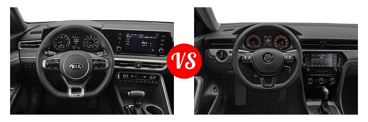 2021 Kia K5 Sedan GT-Line vs. 2021 Volkswagen Passat Sedan 2.0T R-Line - Dashboard Comparison