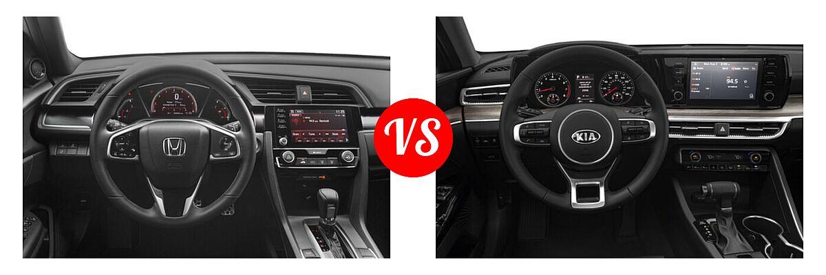 2021 Honda Civic Sedan Sport vs. 2021 Kia K5 Sedan EX - Dashboard Comparison