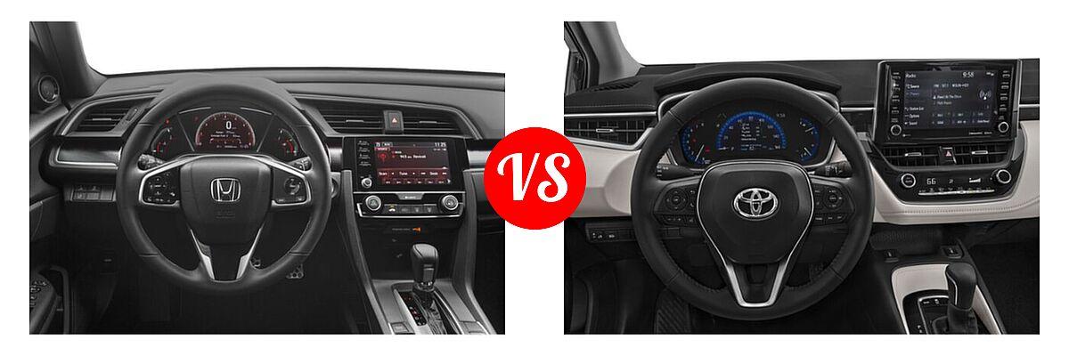2021 Honda Civic Sedan Sport vs. 2021 Toyota Corolla Sedan XLE - Dashboard Comparison