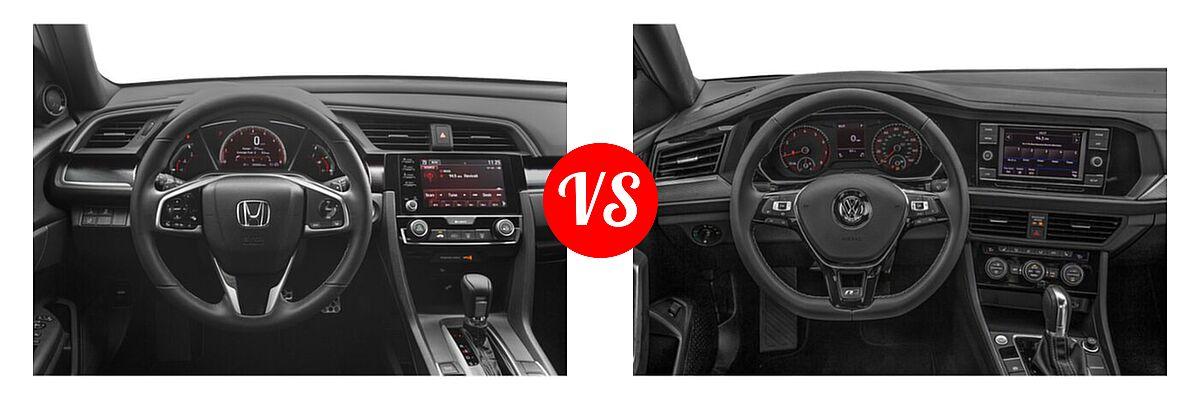 2021 Honda Civic Sedan Sport vs. 2021 Volkswagen Jetta Sedan R-Line - Dashboard Comparison