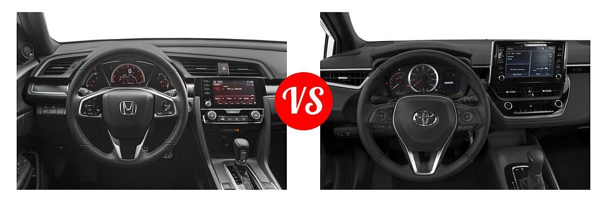2021 Honda Civic Sedan Sport vs. 2021 Toyota Corolla Sedan Nightshade - Dashboard Comparison