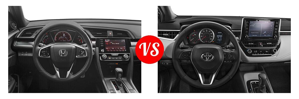 2021 Honda Civic Sedan Sport vs. 2021 Toyota Corolla Sedan APEX SE - Dashboard Comparison