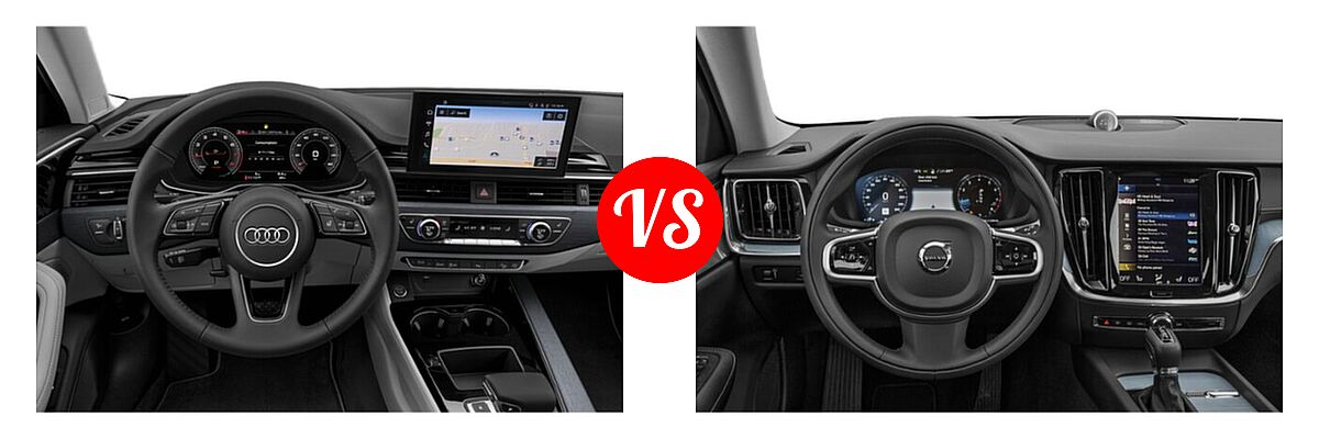 2021 Audi A4 allroad Wagon Premium / Prestige vs. 2021 Volvo V60 Wagon Inscription / Momentum / R-Design - Dashboard Comparison