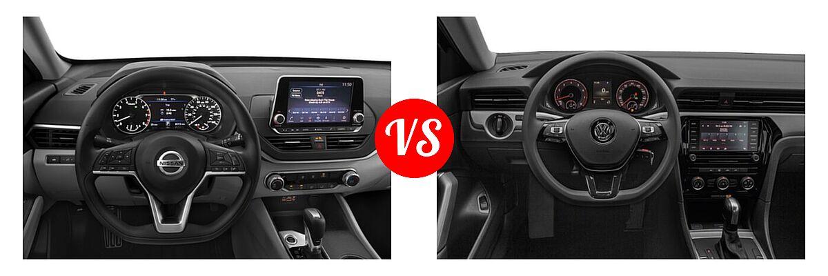 2021 Nissan Altima Sedan 2.5 S vs. 2021 Volkswagen Passat Sedan 2.0T S / 2.0T SE - Dashboard Comparison