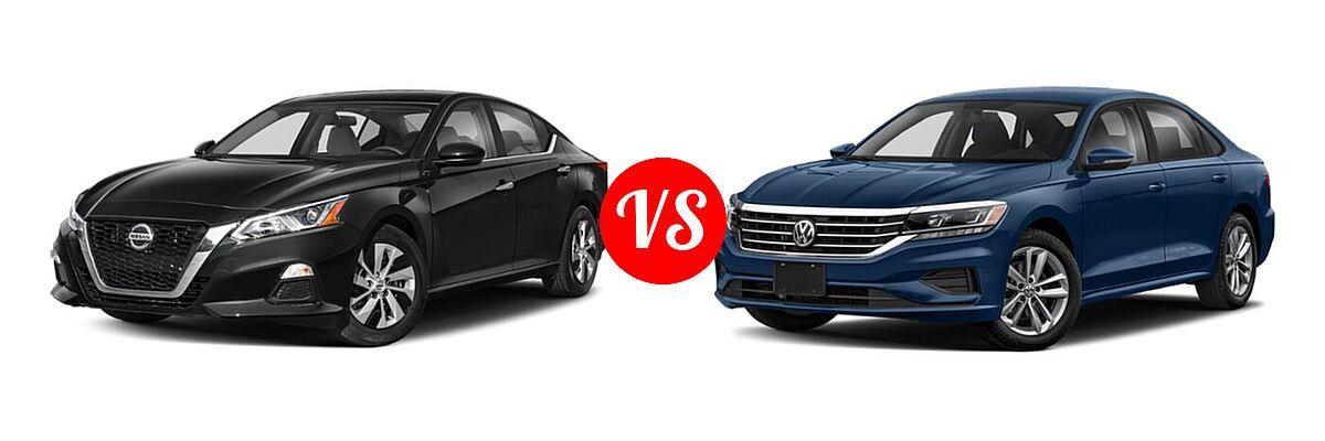 2021 Nissan Altima Sedan 2.5 S vs. 2021 Volkswagen Passat Sedan 2.0T R-Line - Front Left Comparison